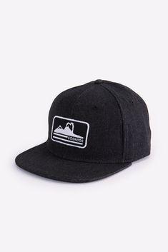 Serratus Hat Denim Flats, Snap Backs, Baseball Hats, Beanie, Cotton, Black, Fashion, Moda, Baseball Caps