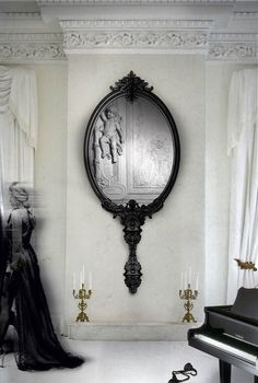 """LA LIAISON D' MARIE ANTOINETTE:   ~""""MIRROR MIRROR ON THE WALL…""""  DIVINELY INSPIRED MIRROR BY BOCCA DA LOBO ROYALLY TITLED MARIE ANTOINETTE"""