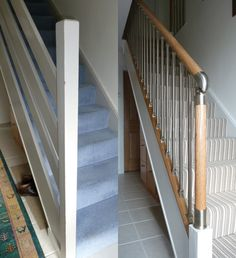 1000 images about before after on pinterest white oak Ranch style staircase