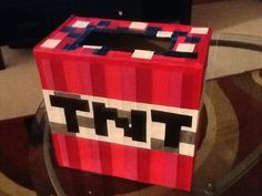 Minecraft TNT valentine day box...nailed it!