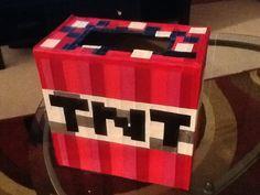 Minecraft TNT valentine day box...nailed it!
