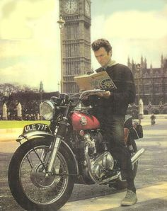 Clint on his Norton