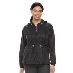 Plus Size Tek Gear® Hooded Anorak Windbreaker Jacket, Women's, Size: 3XL, Black