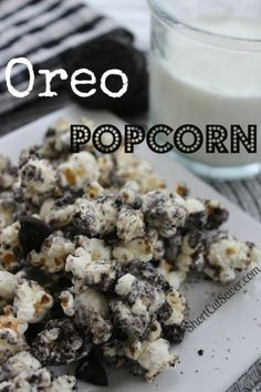 Change up the flavor of your popcorn with this recipe for Oreo Popcorn.