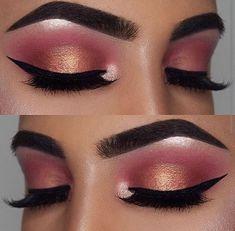 Rosy makeup glam Pinterest// @dri_chaw