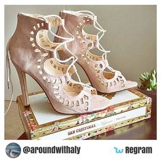 Happy friday Wishees! For this week's' #tgifregram we bring you this gorgeous pair of strappy #heels from @aroundwithaly!   Would you rock these for #summer?