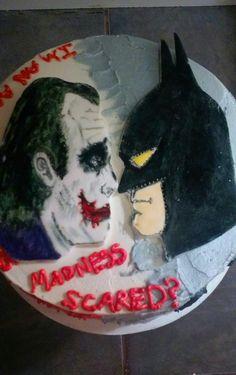 Dark Knight Joker Cake Baking Pinterest Joker Cake Cake And - Dark knight birthday cake