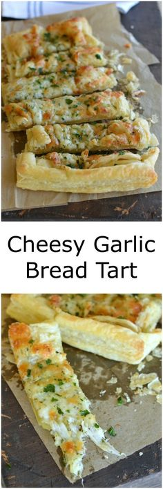 Puff PastryCheesy Garlic Bread is a fancy new twist on classic garlic bread and only takes minutes to make!