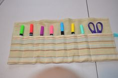 Tutorial: Roll up organizer from a placemat...easy, inexpensive and handy!