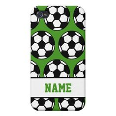 Personalized Soccer 4  iPhone 4/4S Case