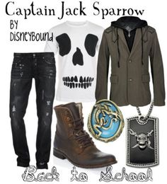 Jack Sparrow back-to-school by DisneyBound