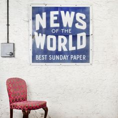 News of the World Two-Part Enamel Sign