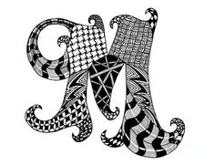 Choose your favorite zentangle drawings from millions of available designs. All zentangle drawings ship within 48 hours and include a money-back guarantee. Doodle Art Drawing, Zentangle Drawings, Mandala Drawing, Zentangle Patterns, Art Drawings, Zentangles, Doodle Art Letters, Drawing Letters, Letter Art