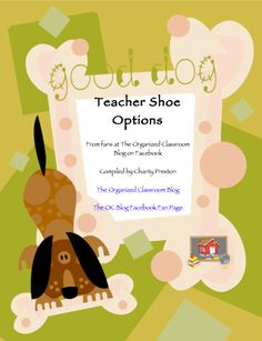 What Are the Best Teacher Shoes?  Includes a free eBook filled with suggestions from fellow teachers!  http://www.theorganizedclassroomblog.com/index.php/blog/what-are-the-best-teacher-shoes