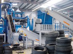 High capacity shredder for tire recycling Metal Processing, Tyre Shop, Tyres Recycle, Industrial, Old Cars, Vip, Recycling, Technology, Tecnologia