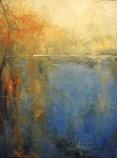 Brimfield Pond 40 x 30, oil on canvas, 2007