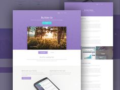 Builder Free Website Template - free vibrant web app template - free psd website template - psd website design templates - web app psd template