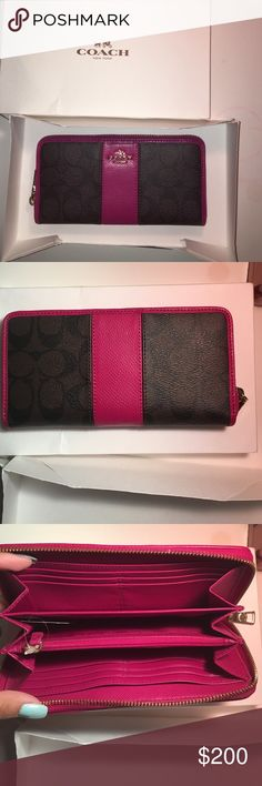 Brand new coach wallet! Adorable wallet! Brand new with tags! Coach Bags Wallets