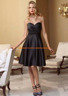 Billig Abendkleider schwarz A-Linie online