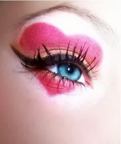 heart eye makeup- fun for Valentine's day!