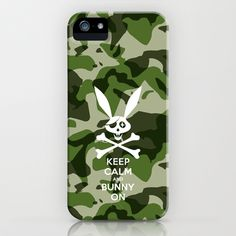 Skeleton Bunny_CAM iPhone & iPod Case by SEVENTRAPS - $35.00