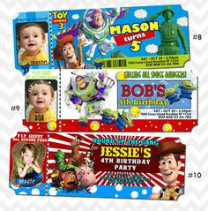 Toy Story Birthday Invitation by PhotoGoof on Etsy, $10.99