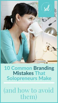 Are you creating a brand for yourself? When you are starting a small business, you need to think about your marketing and brand strategy. Click through for tips on how to avoid these 10 common branding mistakes. | Business Ideas | Small Business Branding Ideas #solopreneur Content Marketing, Affiliate Marketing, Digital Marketing, Online Logo, Branding Ideas, Social Media Pages, Creating A Brand, Marketing Strategies, Business Branding