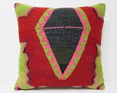 kilim pillow 24x24 big pillow cover big decorative pillow large cushion cover 24 inch pillow large couch pillow extra large pillow red 22713