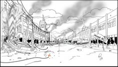The Animation Background production art, Fine Art, and personal art of Chris Bolden Bg Design, Perspective Drawing, Animation Background, Environment Design, Give It To Me, Daddy, Backgrounds, Concept, Fine Art