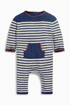 Buy Navy Stripe Knitted Romper (0mths-2yrs) online today at Next: United States…