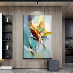 Abstract painting wall art images for living room wall decor original blue acrylic canvas painting thick texture home corridor decoration Acrylic Wall Art, Acrylic Canvas, Canvas Wall Art, Blue Canvas, Hallway Wall Decor, Hallway Decorating, Living Room Canvas Art, Images D'art, Painting Tile Floors