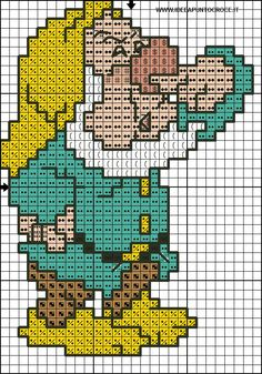 I sette nani Disney Cross Stitch Patterns, Counted Cross Stitch Patterns, Cross Stitch Charts, Cross Stitch Designs, Beaded Cross Stitch, Cross Stitch Baby, Cross Stitch Embroidery, Baby Motiv, Stitch Character
