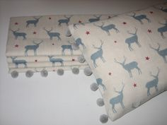 Roman blind and cushion in Stag All Star fabric from Peony and Sage