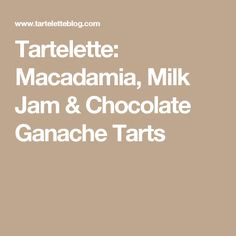 chocolate caramel macadamia nut tart macadamia nut and chocolate chip ...