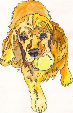 Cocker Spaniel Watercolor Print by ChristieMartinezArt on Etsy, $15.00