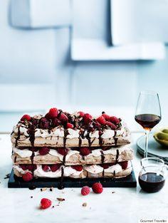 A Chocolate Raspberry Meringue Cake Recipe