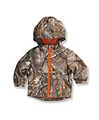 Infant Toddler Boys' Packable Work Camo Hooded Rain Jacket