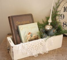 Love using one of my drawers as a vignette... several places I could put these!