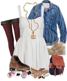 Cute Outfits On Pinterest | Roller Skating Teen Outfits And Sport Style