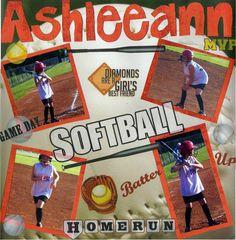 Ashlee's Softball Page - Scrapbook.com
