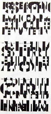 zersplittert neu verfugt... wortbildmarke constructive....(Franz Mon Poster poem)