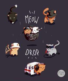 bts cat version fanart   ♡
