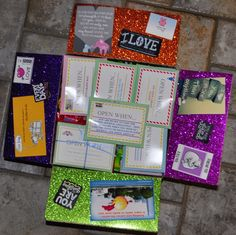 Missionary Box Moms : Open When Cards Box Missionary Care Packages, Missionary Gifts, Sister Missionaries, Missionary Letters, Open When Cards, Lds Mission, Open When Letters, Big Hugs, Birthday Presents
