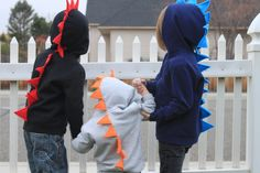 Dinosaur Spike Hoodie- Infant & Toddler by KidHub on Etsy https://www.etsy.com/ca/listing/116470653/dinosaur-spike-hoodie-infant-toddler