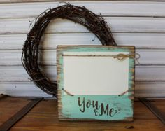 Photo Wood Block, You & Me Wood Block Frame, Couples Rustic Frame, 4x6 Photo Block, Block Frame, You and Me Picture Frame, Photo Display