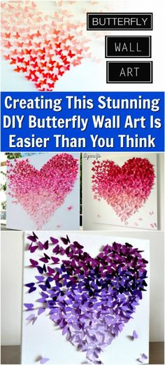 Creating This Stunning DIY Butterfly Wall Art Is Easier Than You Think {Video}