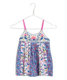 Love this Blue Mini-Floral Babydoll Tank - Toddler & Girls by Mim Pi on #zulily! #zulilyfinds