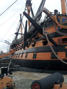 }{   HMS Victory in Portsmouth, England