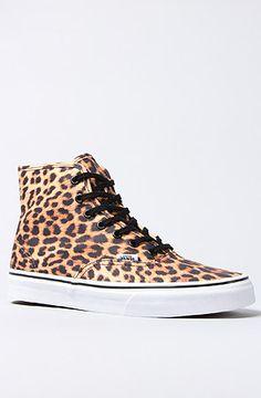 The Authentic Hi Sneaker in Leopard by Vans Footwear soooooo buying!!!!!