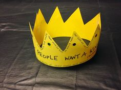 """Have you ever seen a """"Truth Crown?"""" You might want to check out the blog tonight. It tells exactly what it's like to be ruled by a king. Israel was told what it would be like, but they still wanted a king. Inexpensive, easy, and unusual Bible projects for children.  1 Samuel . Take a look and share!"""